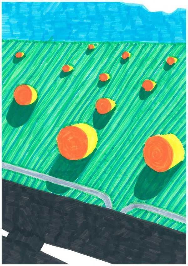 extrait de la série A4, feutre sur papier, 21x29,7cm, 2020